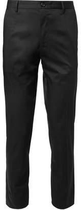 Dolce & Gabbana Slim-fit Logo-print Stretch-cotton Gabardine Trousers