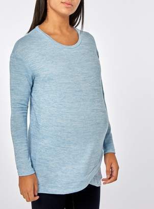 Dorothy Perkins Womens **Maternity Brushed Wrap Front Sweat Top