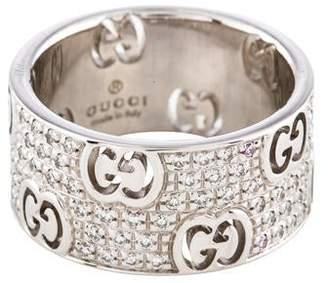 070871c1437a76 Gucci 18K Diamond Icon Stardust Wide Band