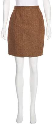 Chanel Herringbone Wool Skirt Suit