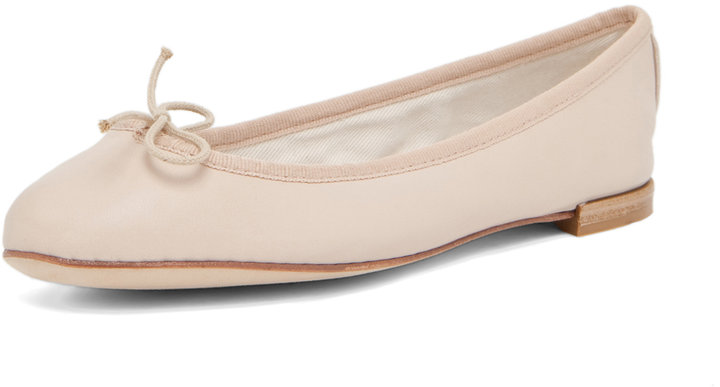 Repetto Lambskin Flat in Nude
