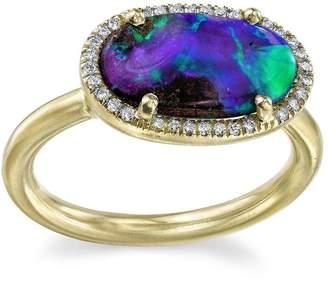 Irene Neuwirth opal and diamond ring