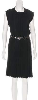 Lanvin Sleeveless Pleated Dress