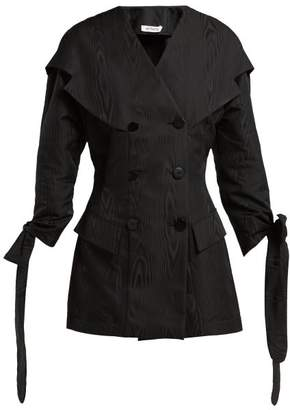 ATTICO The Moire Mini Dress - Womens - Black