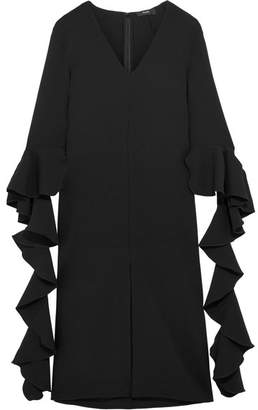 Ellery Reuben Ruffled Crepe Midi Dress - Black