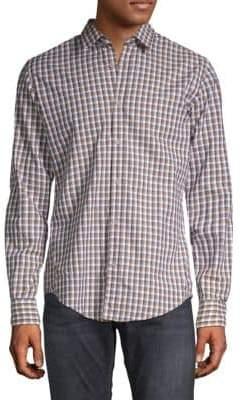 HUGO BOSS Ronni Checkered Button-Down Shirt