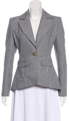Altuzarra Striped Tweed Notch-Lapel Blazer