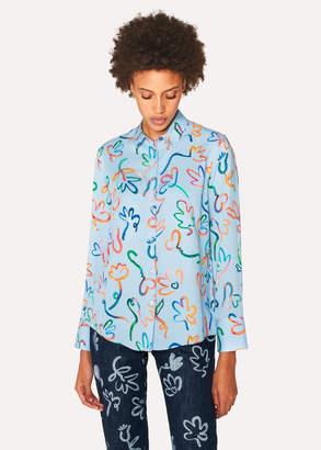 Paul Smith Women's Light Blue 'Acapulco' Print Shirt