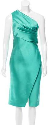 J. Mendel One-Shoulder Silk Dress