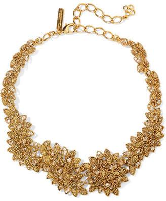Oscar de la Renta - Gold-plated Swarovski Crystal Necklace $695 thestylecure.com