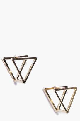 boohoo Elena Prism 3D Stud Earrings