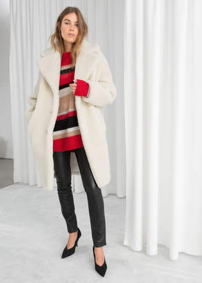304dbf57d1 And other stories Faux Shearling Coat