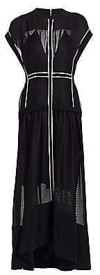 Proenza Schouler Women's Sheer A-Line Midi Dress