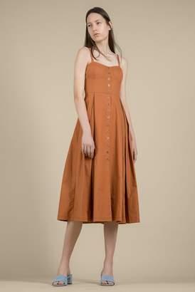 Genuine People Button Front Midi Dress