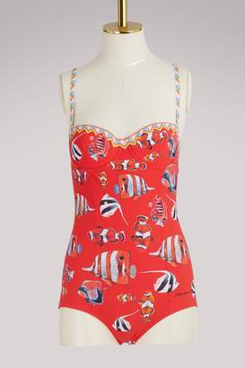Dolce & Gabbana Fish print swimsuit