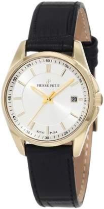 Pierre Petit Women's P-784C Serie Le Mans Two-Tone Date Black Leather Watch