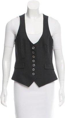 Karen Millen Two-Tone Pinstripe Vest $80 thestylecure.com