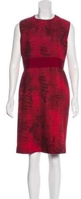 Giambattista Valli Wool Sheath Dress Red Wool Sheath Dress