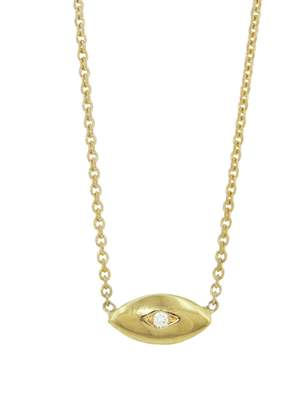 Jennifer Meyer Mini Evil Eye Necklace - Yellow Gold