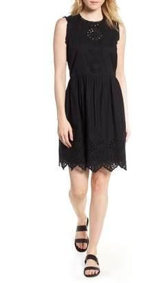 Hinge Cotton Eyelet Mini Dress