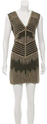 Haute Hippie Embellished Silk Dress