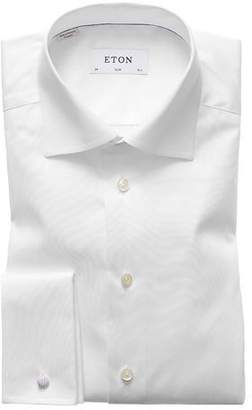 Eton Men's Slim-Fit French-Cuff Twill Dress Shirt