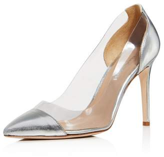 1a349c76bcc Charles David Women s Genuine Leather Illusion Pointed Toe Pumps