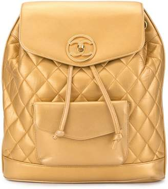 Chanel Pre-Owned circle turn-lock backpack