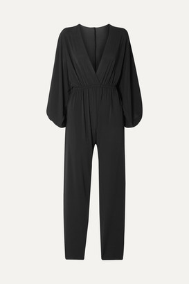 Eres Lou Oversized Wrap-effect Stretch-jersey Jumpsuit - Black
