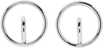 Charlotte Chesnais Silver Large Saturn Blow Earrings