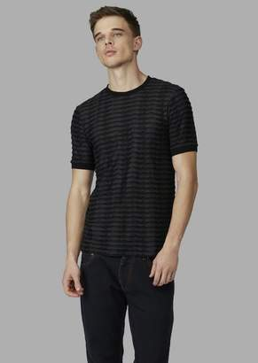 Giorgio Armani Jersey Jacquard Sweater With A Raised Pattern