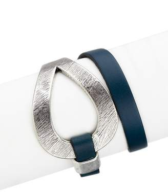 Saachi Denim Genuine Leather Loop Bracelet