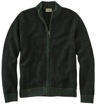 L.L. Bean L.L.Bean Men's Washable Merino Wool Sweater, Full Zip