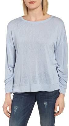Caslon Tuck Sleeve Sweatshirt (Regular & Petite)