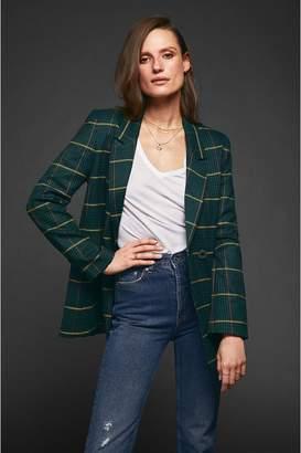 Anine Bing Madeleine Blazer - Green Plaid