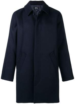 A.P.C. boxy single-breasted coat