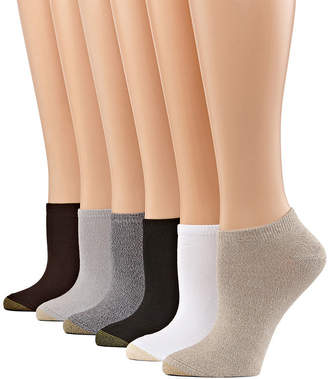 Gold Toe 6 Pair Knit Liner Socks - Womens