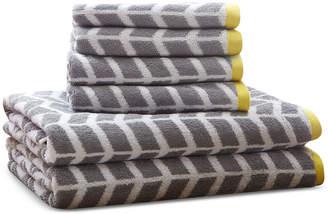 Intelligent Design Nadia 6-Pc Cotton Jacquard Towel Set Bedding