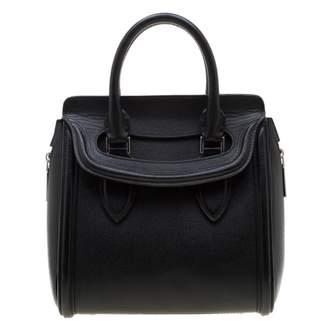 08346968356a8 Alexander McQueen Heroine Black Leather Handbag