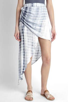 Juniper Blu Asymmetrical Hi Lo Tie Dye Skirt