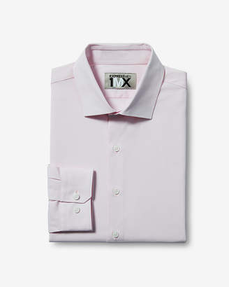 Express Slim Solid Easy Care End-On-End 1Mx Shirt