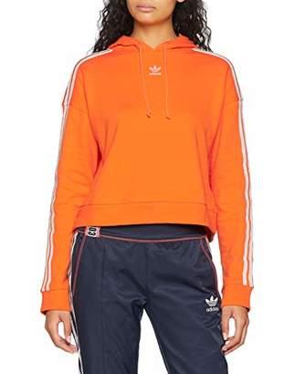 adidas Women's Cropped Hoodie Sports (Bahia Orange), (Size: 44)