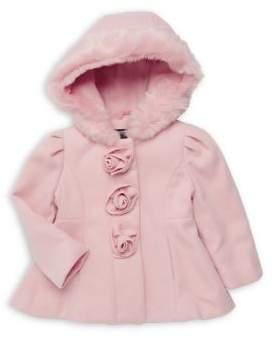 Rothschild Baby Girl's Rosette Dress Coat