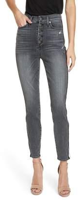Alice + Olivia Good Side Stripe Skinny Jeans
