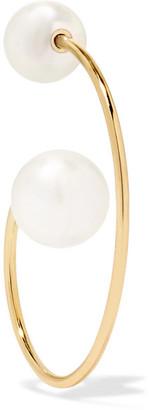 Sophie Bille Brahe Petite Babylon 14-karat Gold Pearl Earring