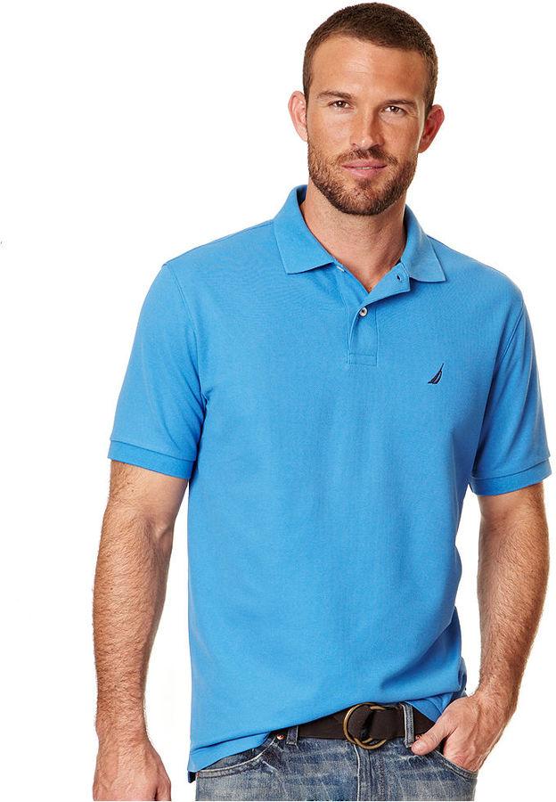 Nautica Shirt, Short Sleeve Solid Deck Polo Shirt