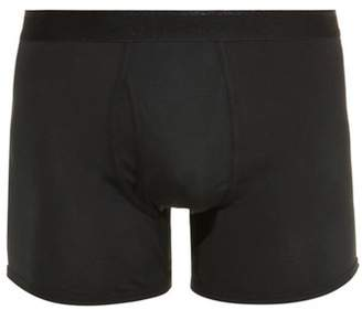 The White Briefs - Wil Cotton Jersey Boxer Trunks - Mens - Black