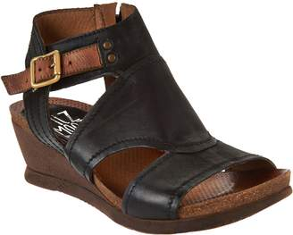 Miz Mooz Leather Side Zip Wedge Sandals - Scout