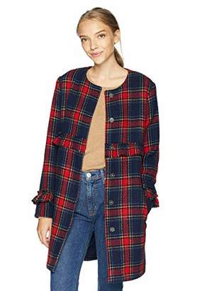 Jack by BB Dakota Junior's Swag Out Plaid Ruffle Coat