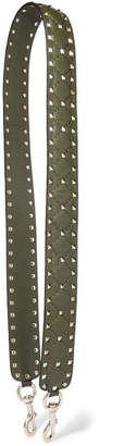 Valentino Garavani The Rockstud Spike Matelassé Quilted Leather Bag Strap - Dark green